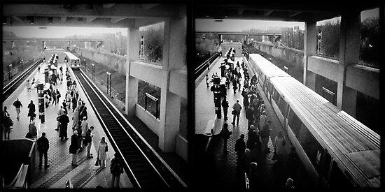 Downtown Train by Jeff Clark