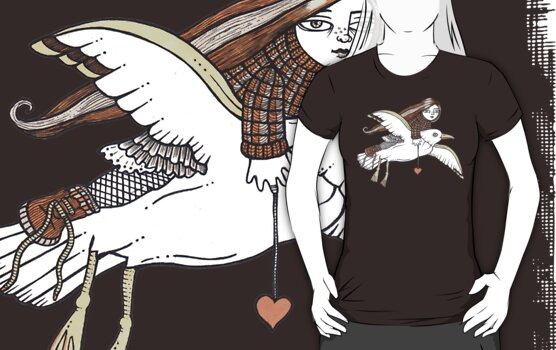 Frannies Flight Tee by Anita Inverarity