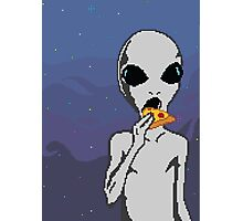 Alien w/ Pizza Slice Photographic Print
