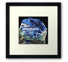 Azurite with Barite and Malachite Framed Print