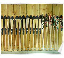 Haida Paddles Poster