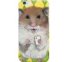 Say Cheese; Hamster with an i phone iPhone Case/Skin