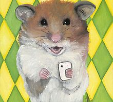 Say Cheese; Hamster with an i phone by ArtbyJoShmo
