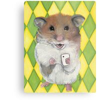 Say Cheese; Hamster with an i phone Metal Print