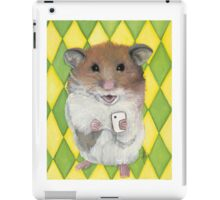 Say Cheese; Hamster with an i phone iPad Case/Skin