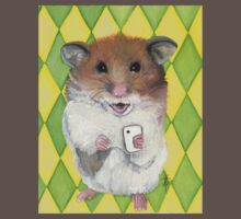 Say Cheese; Hamster with an i phone Baby Tee