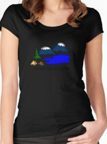 Camping - Simple Things Women's Fitted Scoop T-Shirt