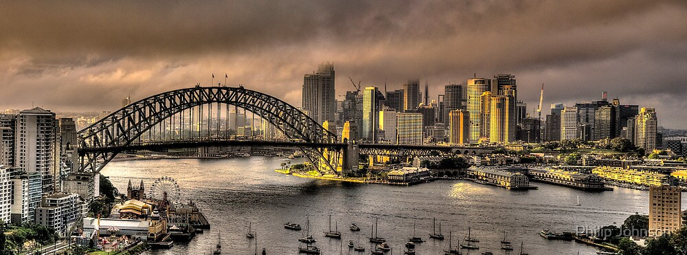 Let There Be Light - Sydney Harbour Sunrise - The HDR Experience by Philip Johnson
