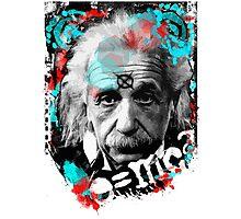 E=mc2 Albert Einstein Abstract portrait Photographic Print