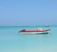 Aruba Fishing Boat by Kim Walters