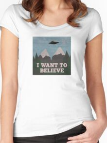 X-Files Twin Peaks mashup Women's Fitted Scoop T-Shirt