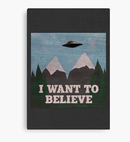 X-Files Twin Peaks mashup Canvas Print