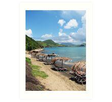 Beach Bar in St. Kitts Art Print