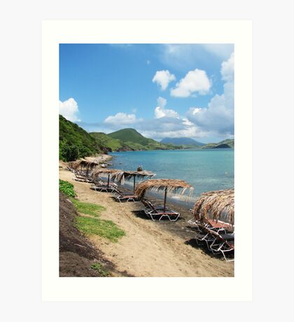 Beach Bar in St. Kitts Art Print