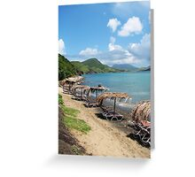 Beach Bar in St. Kitts Greeting Card