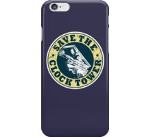 Save The Clock Tower (White Background) iPhone Case/Skin