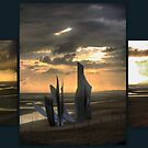 A Triptych at Normandy by Larry Lingard-Davis