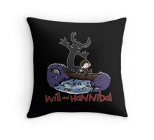 Will and Hannibal Throw Pillow
