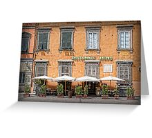 Restaurant Giglio - Lucca Greeting Card