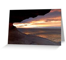Cave View Greeting Card