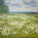 Blooming field by Julia Lesnichy