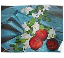 Apples and Cherry Blossoms Poster