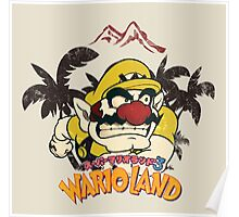 Wario Land - Vintage/Retro Design Poster