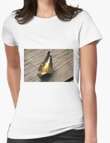 Butterfly Brownie Womens Fitted T-Shirt
