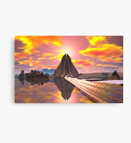 Pyramid at Khartoosh Canvas Print