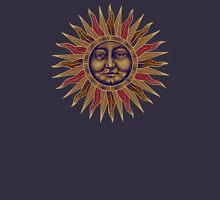 Celestial Golden Sun Face Unisex T-Shirt