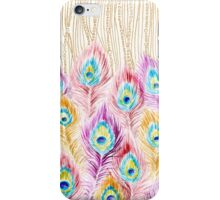 Peacock feathers and pearls iPhone Case/Skin