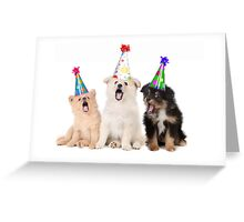 Puppy Dogs Singing Happy Birthday To You Greeting Card