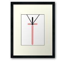 Lightsaber Cross Framed Print