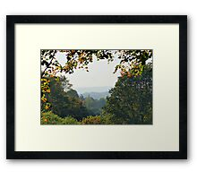 Through The Window Of Autumn Framed Print