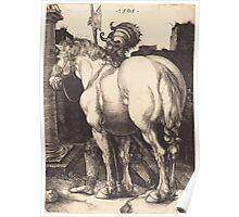 Albrecht Dürer or Durer Large Horse Poster
