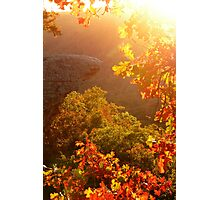 Bit of Light, and Touch of Autumn Colors Photographic Print