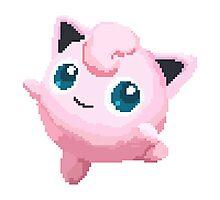 Jigglypuff Pixels Pokemon Photographic Print