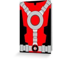 Deadpool Suit Greeting Card