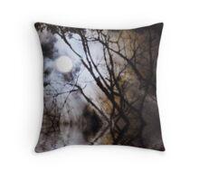 Misty Moonlight Throw Pillow
