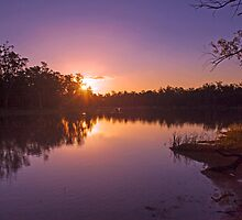 Beautiful Light - Sunset, River Murray, Renmark, South Australia by Mark Richards