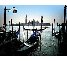 Gondolas in Venice. Photographic Print