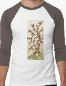 Young Willow Tree, Going With the Flow Men's Baseball ¾ T-Shirt