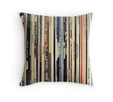The Beatles, Led Zeppelin, The Rolling Stones - Classic Rock Albums Throw Pillow