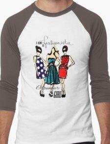 Fashionista Girls Men's Baseball ¾ T-Shirt
