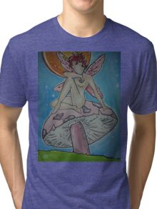 The Fairy and The Mushroom Tri-blend T-Shirt
