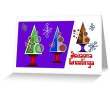 Seasons Greetings 1960's Style Greeting Card