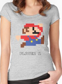 Mario Player 1 Women's Fitted Scoop T-Shirt