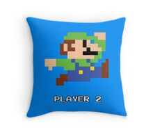 Luigi Player 2 Throw Pillow