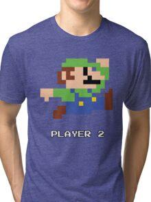 Luigi Player 2 Tri-blend T-Shirt