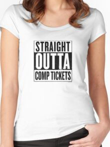 Straight Outta Comp Tickets Black Women's Fitted Scoop T-Shirt